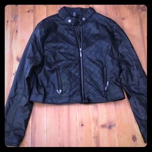 Cute leather jacket black rue 21